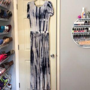 Shabby apple stretchy tie dye maxi dress size 10